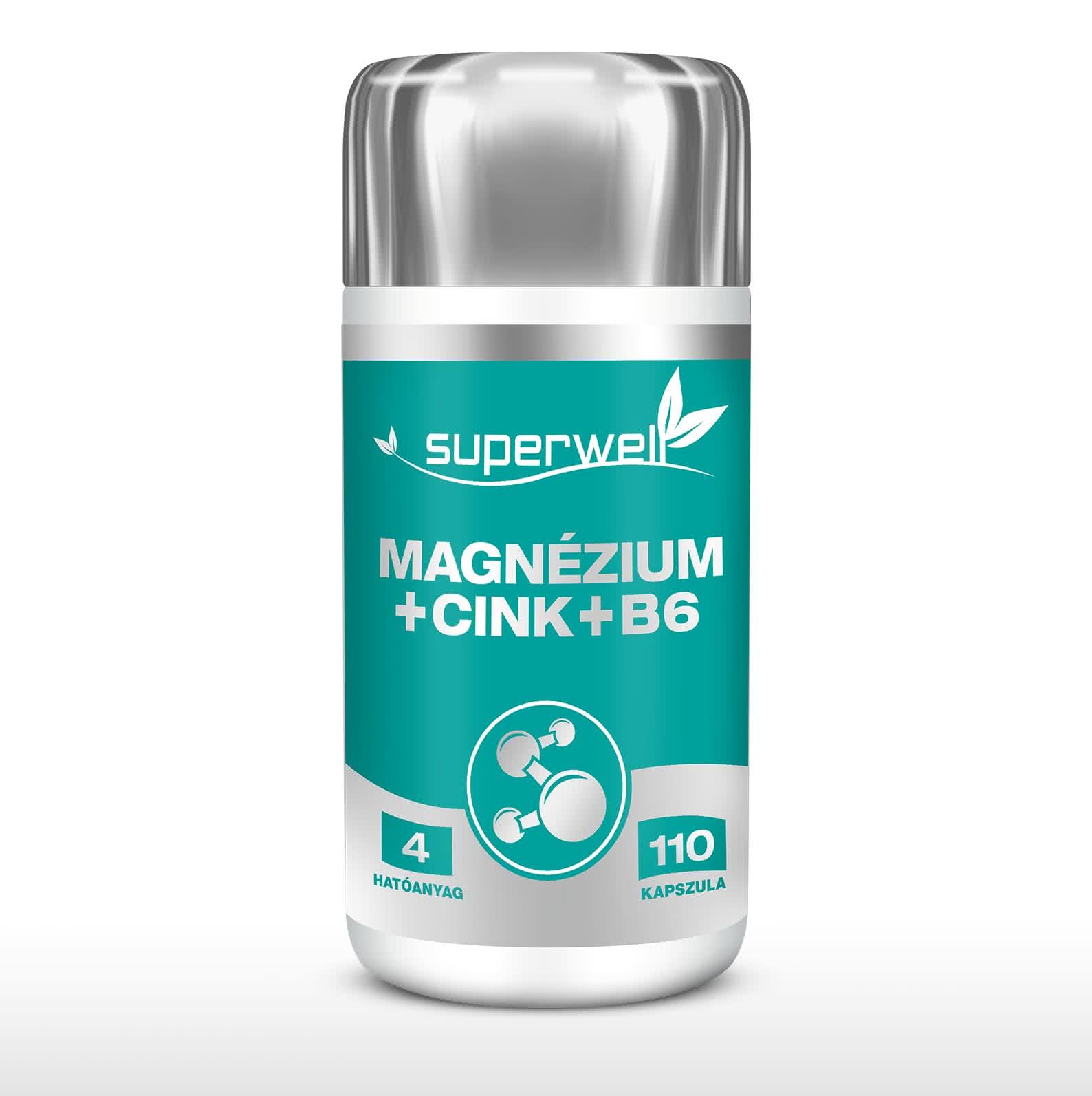 Superwell Magnesium+Zinc+B6 110 kap.