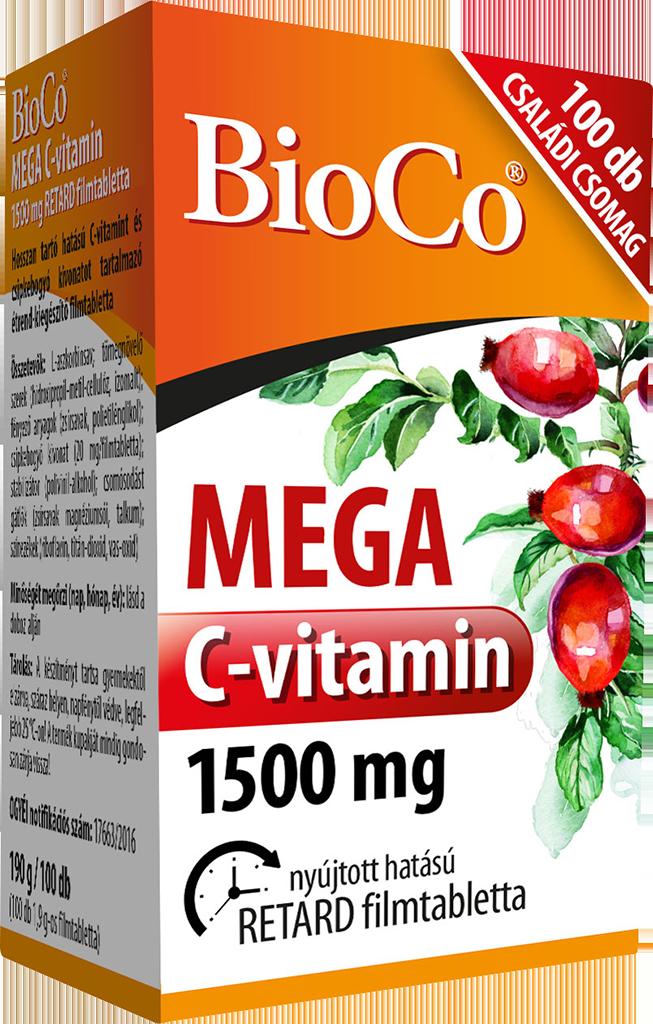 BioCo MEGA Vitamin C 1500 mg 100 tab.