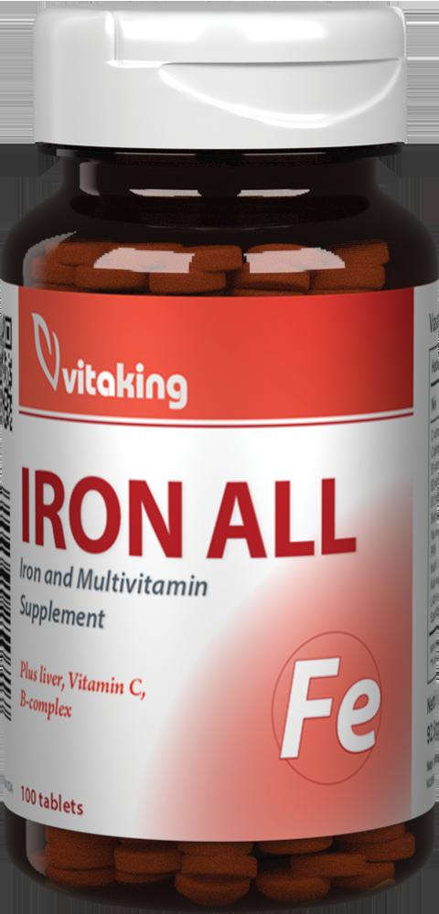 VitaKing Eisen Komplex (Iron All) 100 tab.